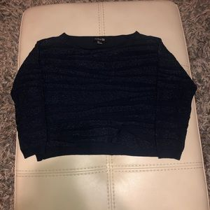 Navy blue sparkly sweater